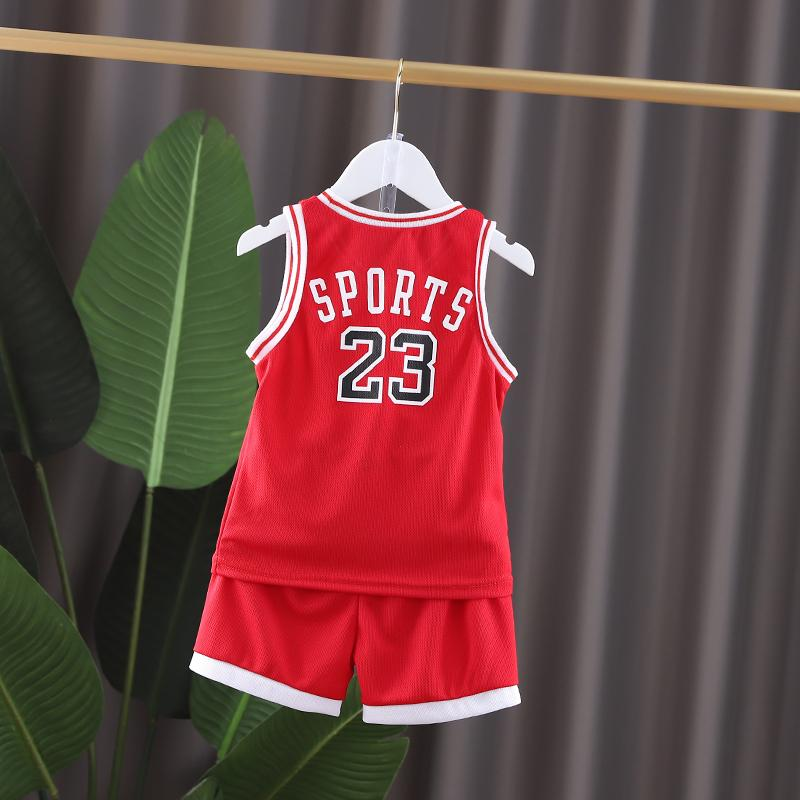2 Pieces Basketball Tank & Shorts for Toddler Boy Wholesale children's clothing