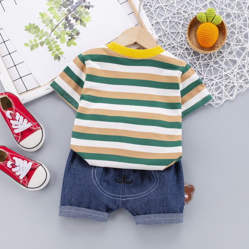 2-piece Bear Pattern T-shirt & Pants for Children Boy - PrettyKid