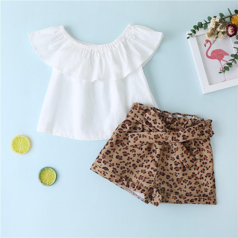 2-piece Solid Ruffle Tops & Shorts for Toddler Girl Wholesale children's clothing - PrettyKid
