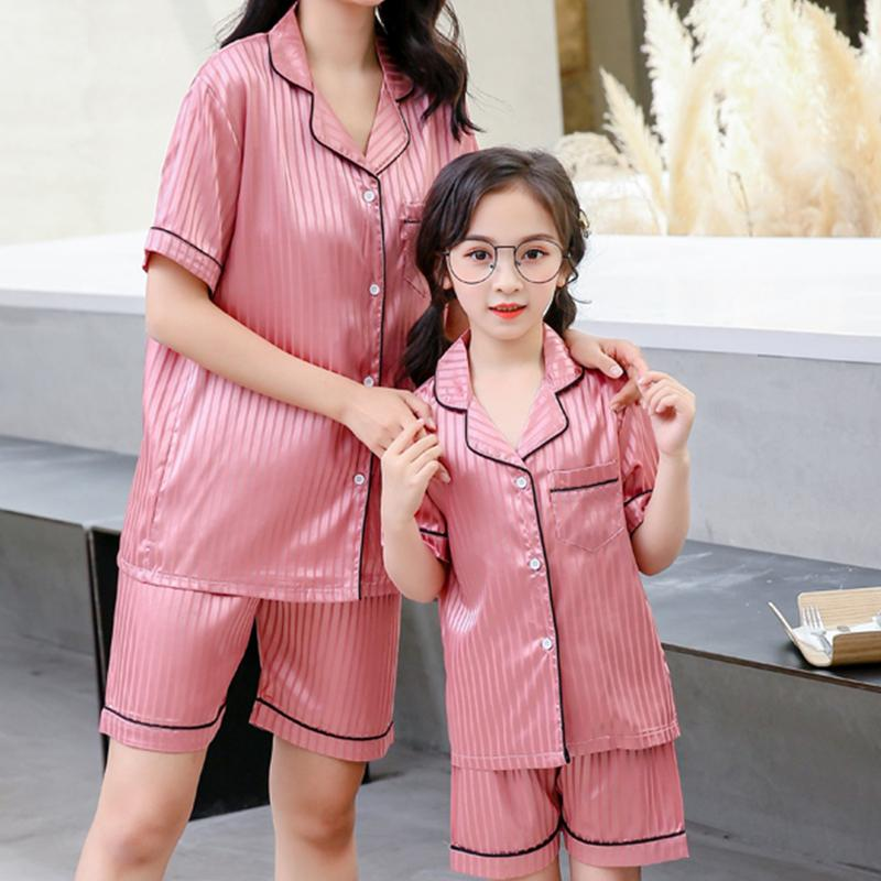 2-piece Solid Pajamas Mother Baby Clothes Wholesale children's clothing - PrettyKid