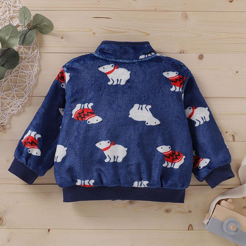 Fleece-lined Coat for Baby Boy Wholesale children's clothing