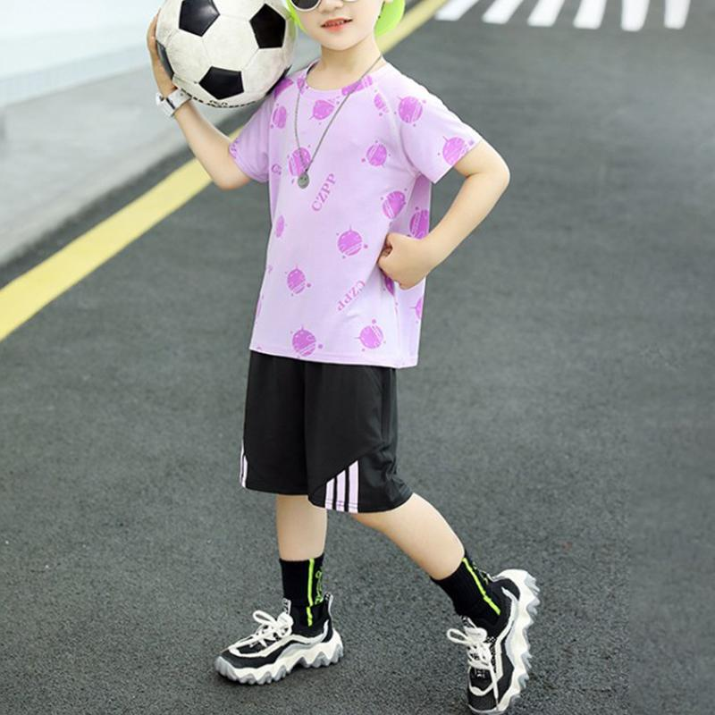 Boy Breathable Quick-drying T-shirt & Shorts