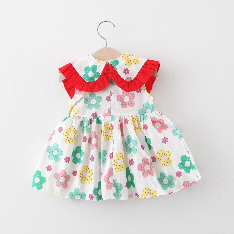 Watermelon Pattern Dress for Baby Girl Wholesale Children's Clothing