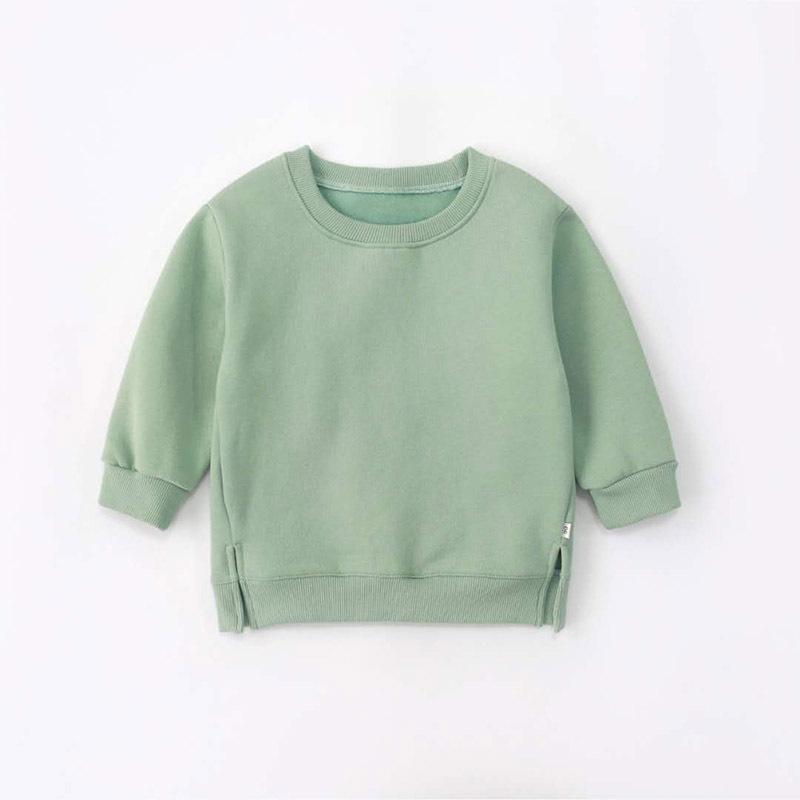 Unisex Baby Candy Color Solid Long Sleeves Top Boy Wholesale Clothing