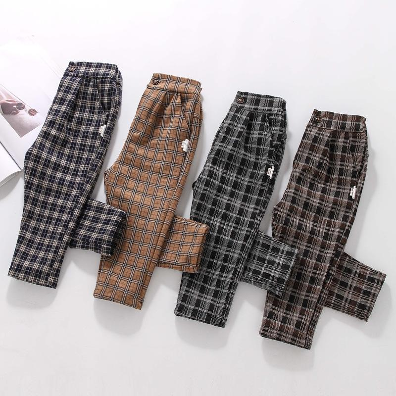 Boys Casual Plaid Pants Baby Boys Clothes Wholesale - PrettyKid