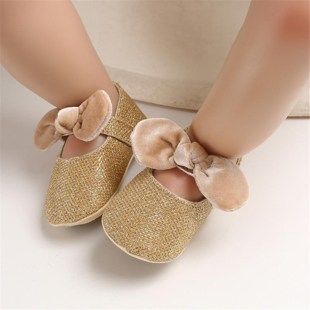Baby Girls Sequins Non-slip Bow Princess Flats Wholesale Shoes For Kids
