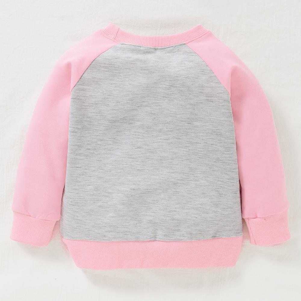 Baby Girls Pattern Animal Crew Neck Long Sleeve Tees Baby Jumper Clothes