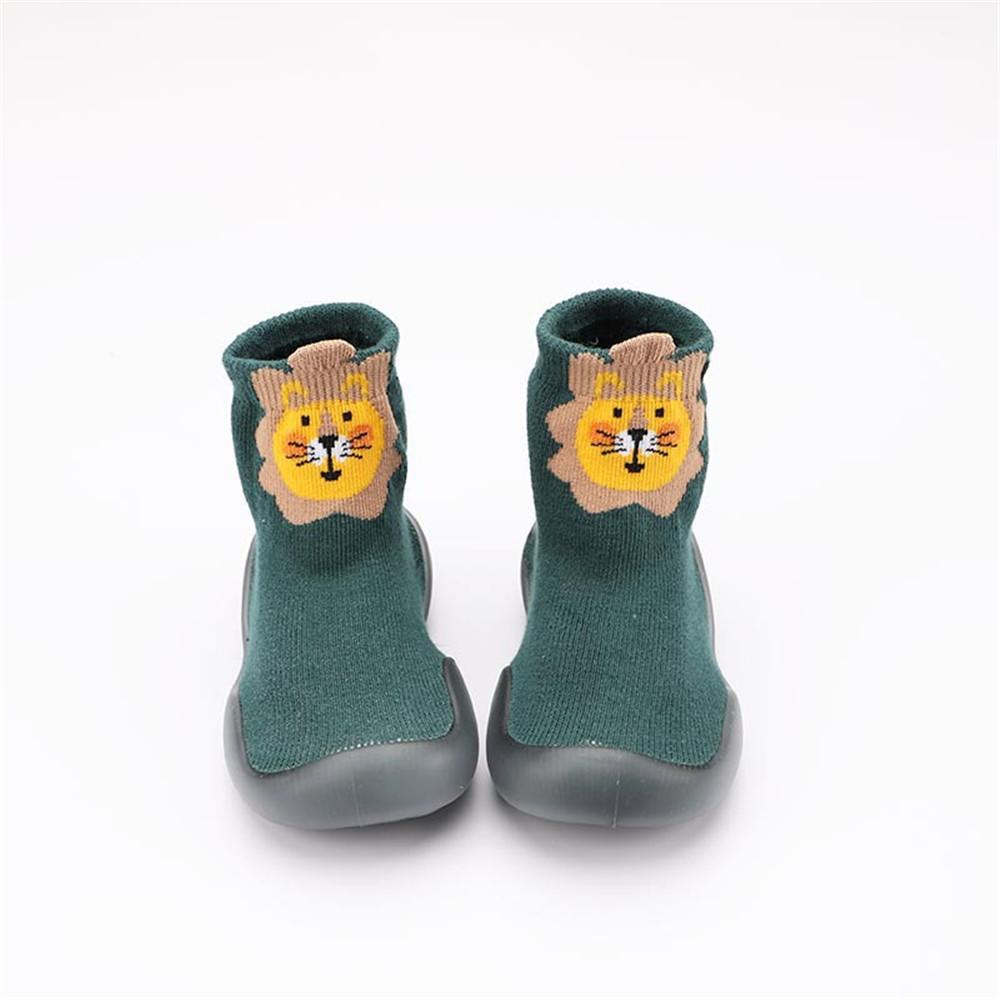 Baby knitted Long Top Cartoon Printed Comfy Sock Flats Shoes - PrettyKid