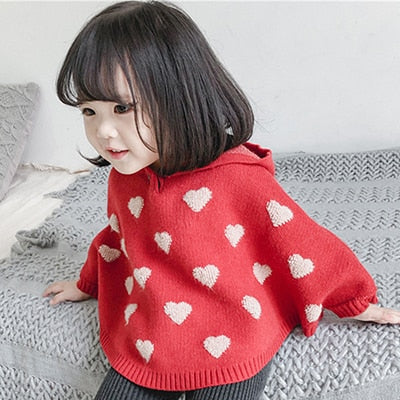 Spring Children's Knitted Sweater Cloak Baby Girls Vendor