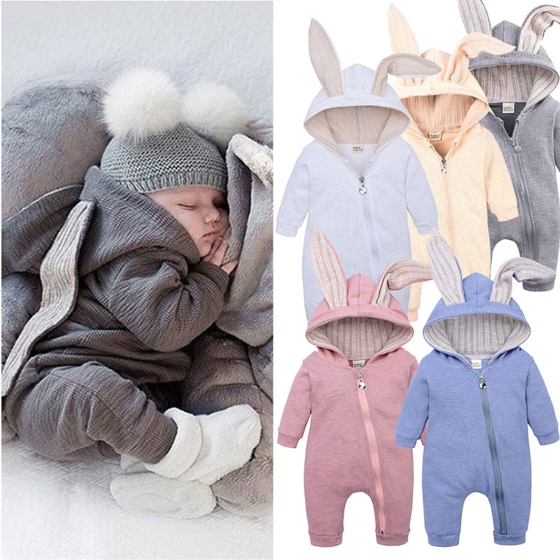 2021 Spring Winter Baby Rompers Cute Cartoon Rabbit Distributor - PrettyKid
