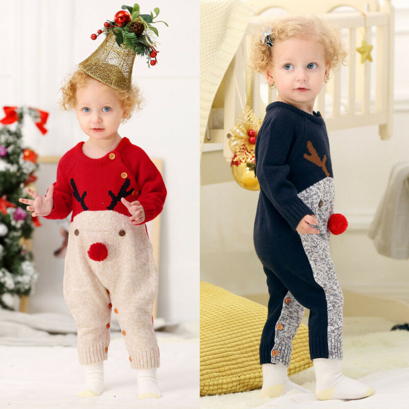2021 new Baby Boys Rompers knitwear Infantil Jumpsuits Toddler Girls  Children Warm Wool Clothes Distributor