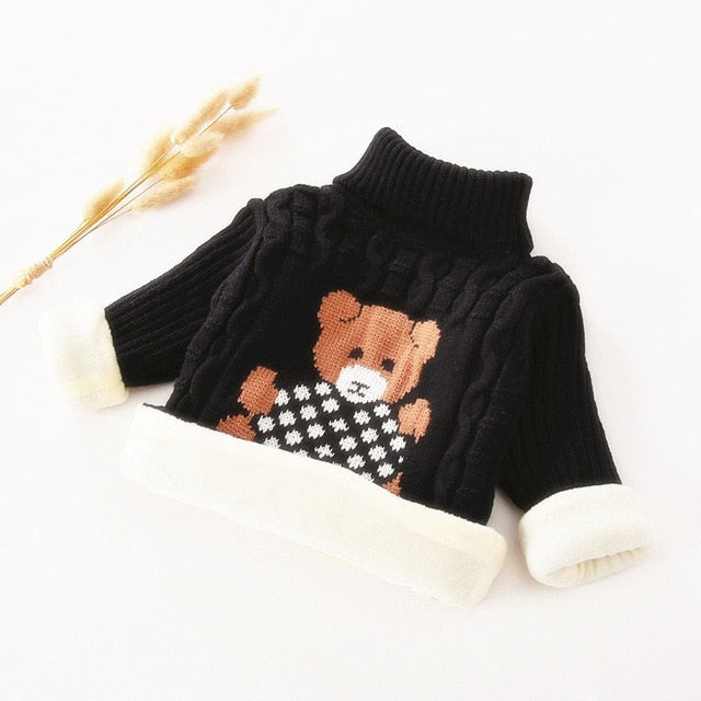 Trendy Winter Baby Sweaters For Girls Fashion Cartoon Knitted Boys Kids Sweaters Children Wholesale