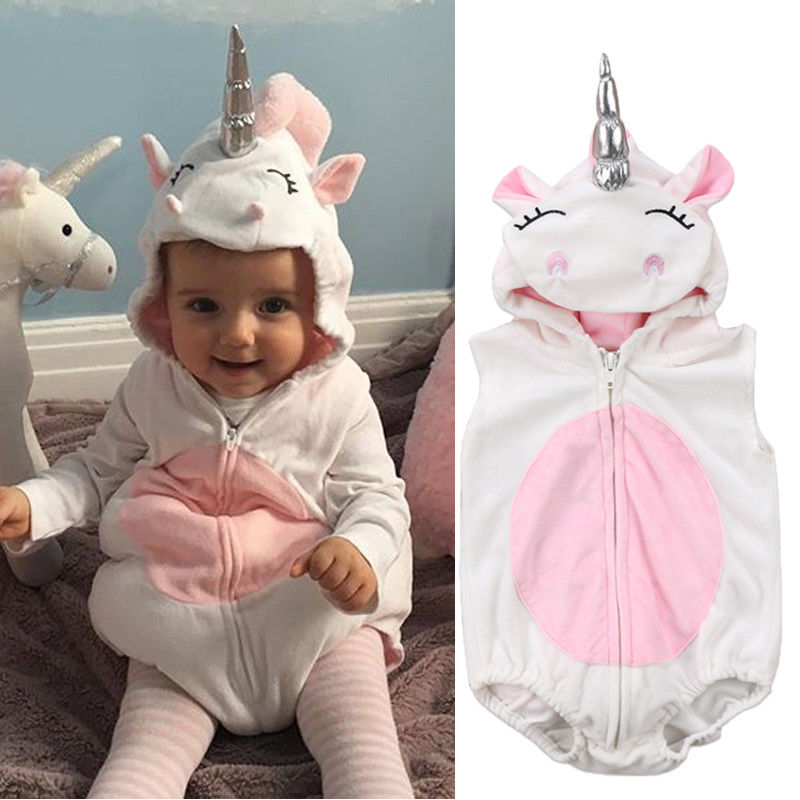 2021 Spring Unicorn Baby Girls Fleece Romper Jumpsuit Supplier - PrettyKid