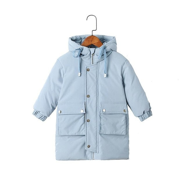 coats Winter clothes Long Down Jacket Kids  Hooded Jacket Baby Boys& Girls Snowsuit Winter Jacket Kids parka Supplier