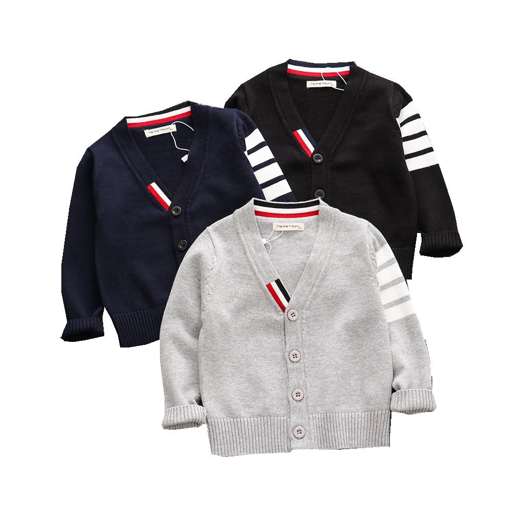 2021 Spring Winter Baby Boys Sweater V-Neck Distributor - PrettyKid
