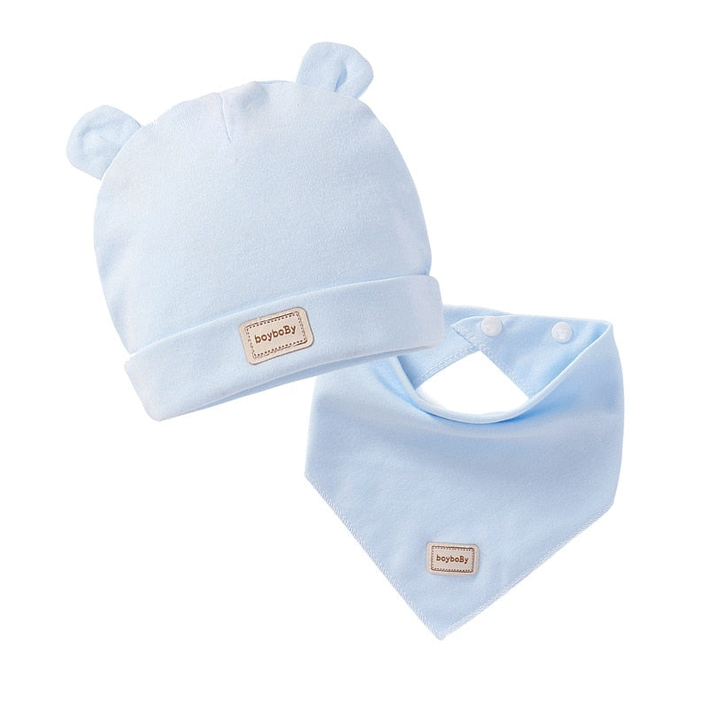 2021 Winter Cute Kids Hat Solid Colors Boys Girls Baby Hats Cotton Baby Hat Infant Caps Vendor - PrettyKid