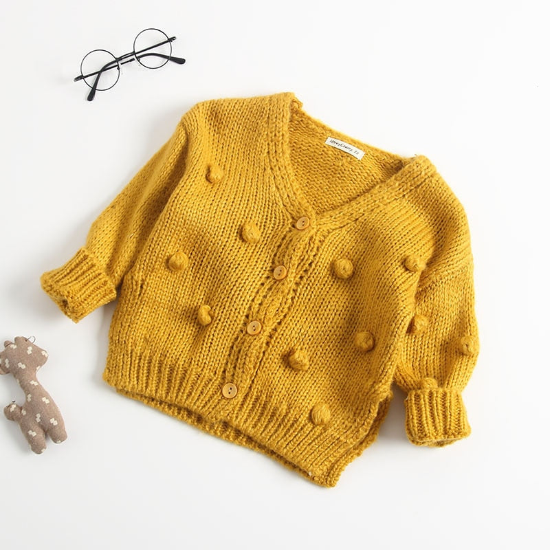 New Baby Sweater Knitted Cardigan Jacket Baby Sweater Coat Girls Cardigan Girls Winter Sweaters Vendor