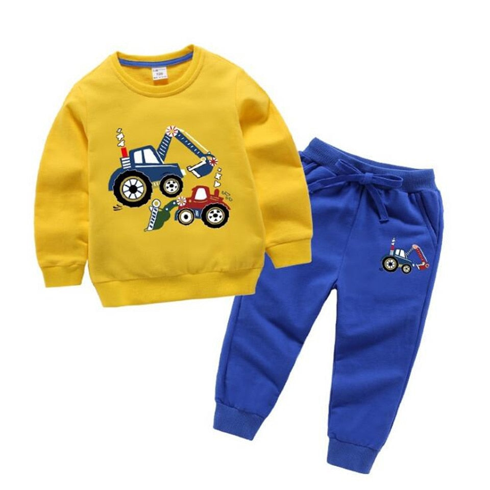2021 Kids Clothes Set Baby Boys Clothing Toddler Shirt Pant Chirldren Costume Cotton Spring Outfits Clothes Wholesale - PrettyKid