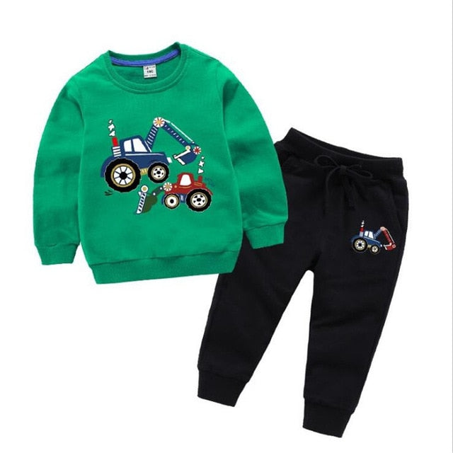 2021 Kids Clothes Set Baby Boys Clothing Toddler Shirt Pant Chirldren Costume Cotton Spring Outfits Clothes Wholesale