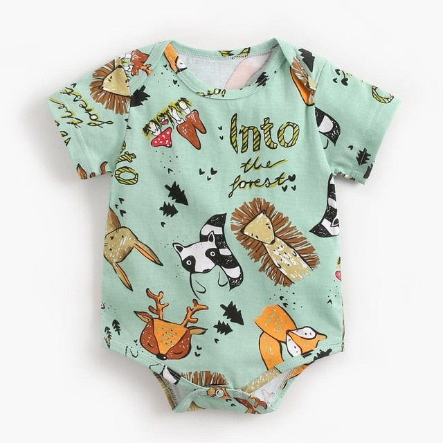 2021 Fashion  Newborn Baby Bodysuit Children Clothing Girls Boy Clothes Jumpsuit Girls Clothing Suit Cotton Body Wholesale