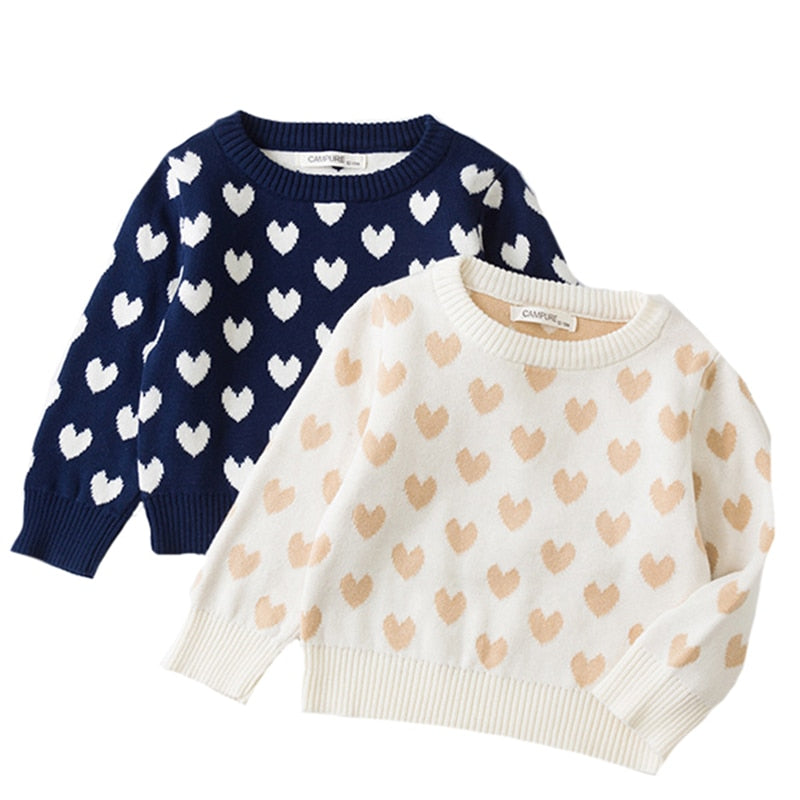 Autumn Children Baby Sweaters Pullover Love Boys Sweaters Winter Girls Sweaters Knit Kids Pullover Casual Boys Clothing 1-6 Yrs - PrettyKid