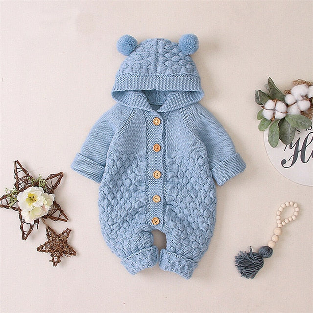 Newborn Baby Boy Girls Bear Ear  Halloween Sweater Jumpsuit Outfits wholesale manufacture
