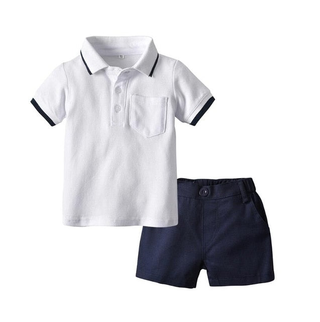 Baby Boy Clothing Set Cotton Short Sleeve Romper Tops+Shorts Infant Boys Outfits Toddler Boy Clothes Wholesale