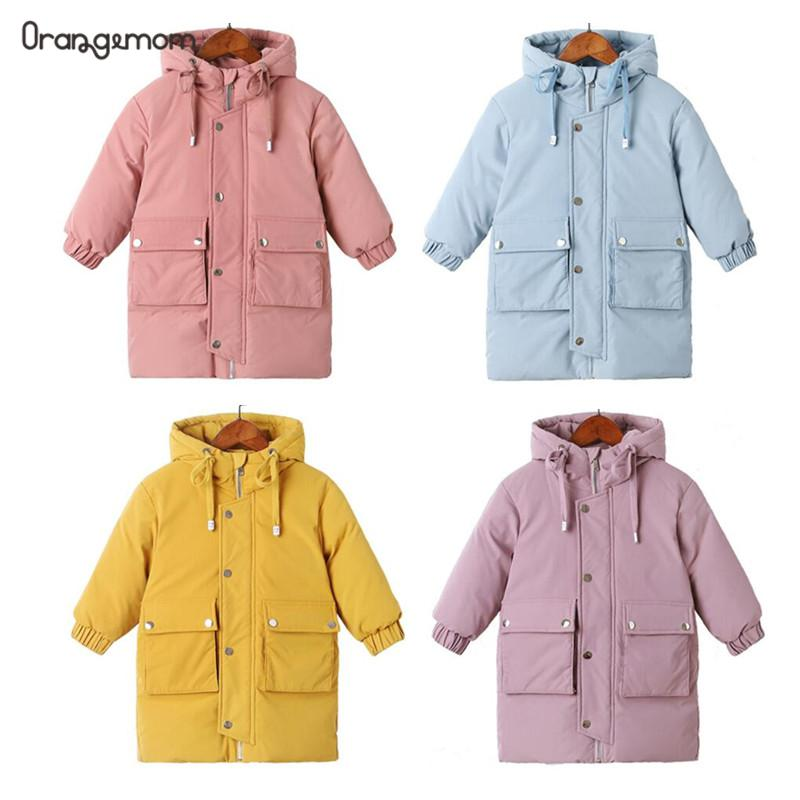 coats Winter clothes Long Down Jacket Kids Hooded Jacket Baby Boys& Girls Snowsuit Winter Jacket Kids parka Supplier - PrettyKid