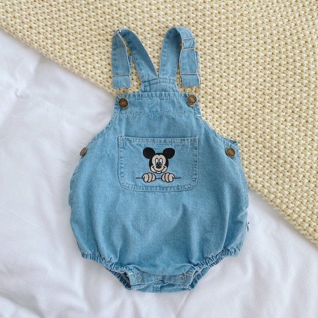 Mickey Mouse Newborn Baby Clothes Girls Boy denim Children Rompers Cartoon kid Jumpsuit Vendor