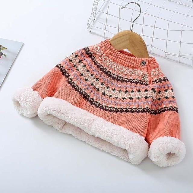 Winter Baby Plus Velvet Sweaters Boy Girls Clothes  Children Rabbit Wool Tops Wholesale