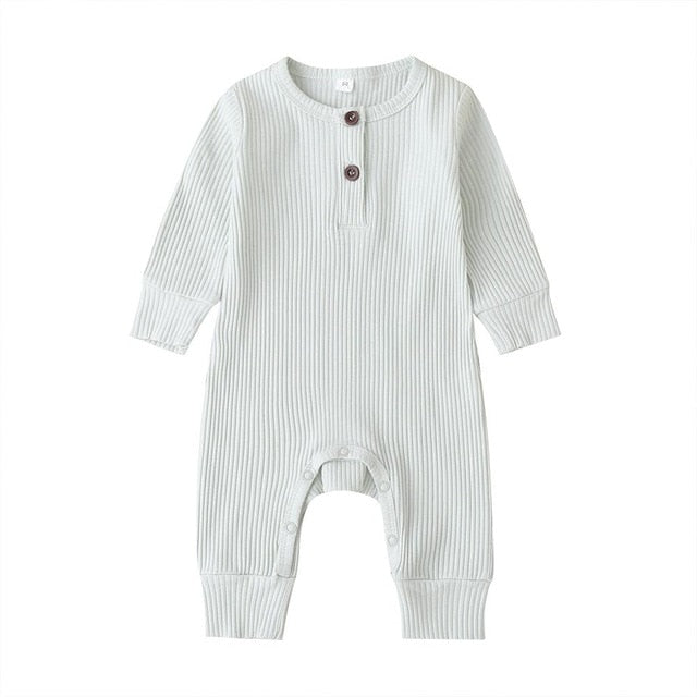 Baby Clothing Newborn Infant Baby Boy Girl Cotton Romper knitwear long sleeves Jumpsuit Solid Clothes wholesale - PrettyKid