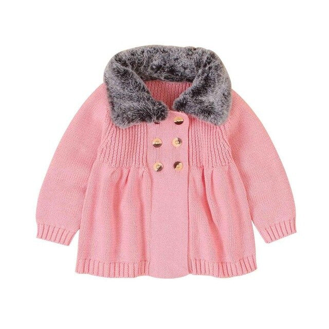 Baby Sweaters  vintage Cardigans Winter Warm Knitted Newborn Bebes Girls Jackets Coats Long Sleeve Toddler Kids Knitwear wholesale