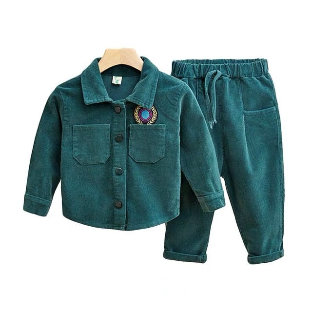 Vintage Baby Boys Clothes Winter Children's Clothing Boys and Girls Suits Kids Clothes for Girls Casual set Wholesale