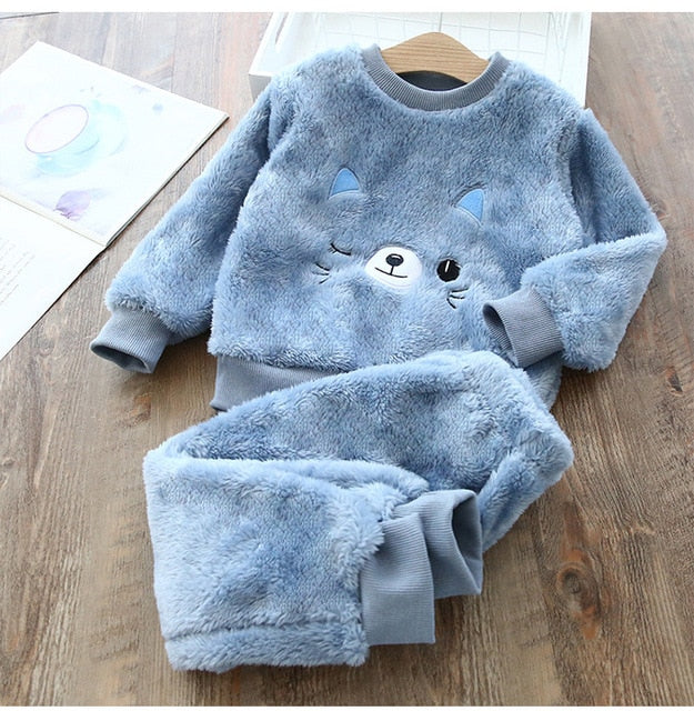 Baby Boy Girl Clothes Pajamas Set  Catoon Bear Winter  Sleepwear Kids Imported  Wholesale
