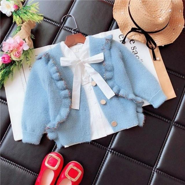 Winter Infant Baby Toddler Clothes Sweaters Knitted Cardigan Coat For Girls Kids Coats Children Supplier