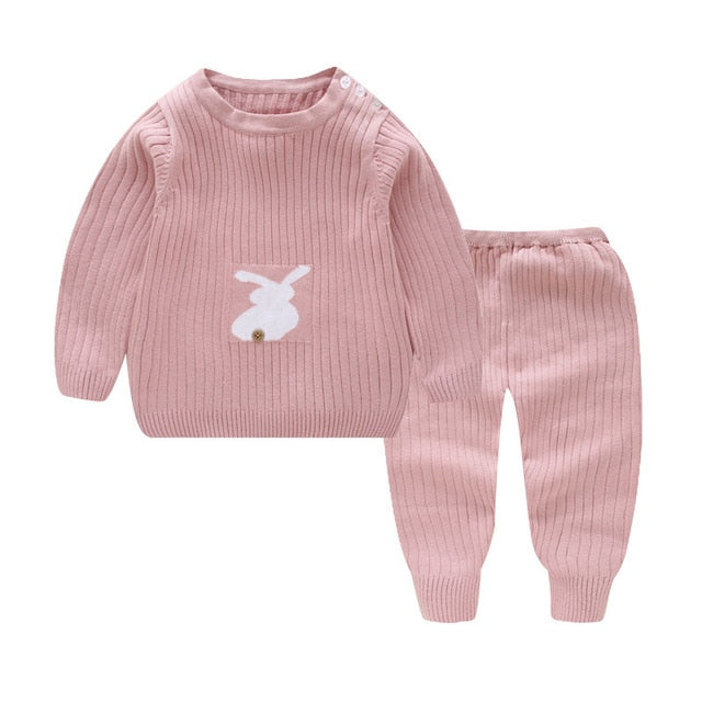 Trendy Winter Infant Boys Girls Sweaters Suit  Boutique Knitted Baby Sets Wholesale