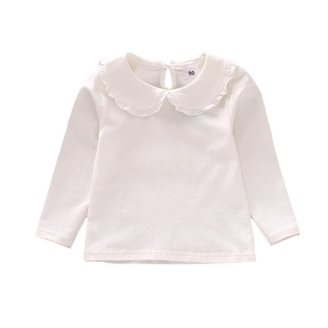 Baby Girls organic T-shirts Newborn Kids Clothes Wholesale Toddler Cotton Long Sleeve T shirt Casual Clothes - PrettyKid