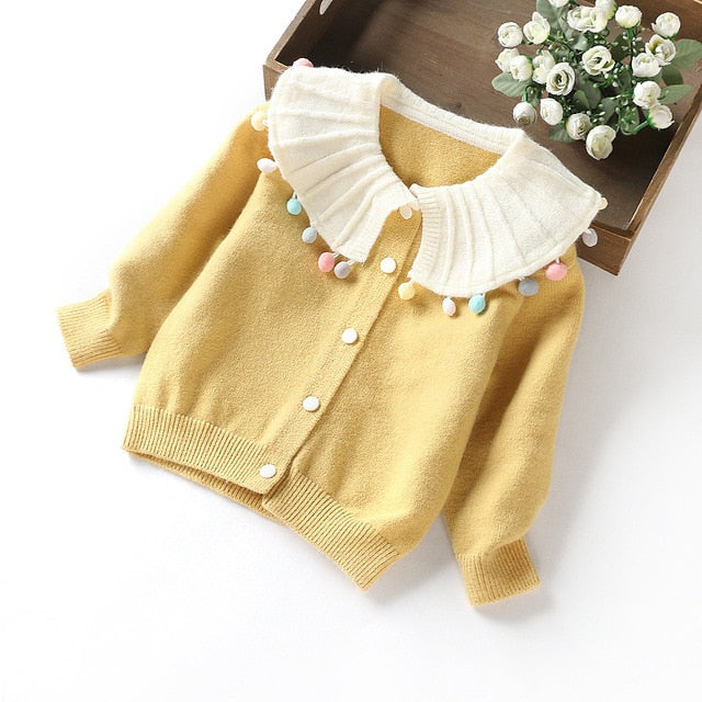 Toddler Sweater Girl Winter Clothes Cardigan kidswear Children Cute Sweater Baby Girl knitwear Cardigan