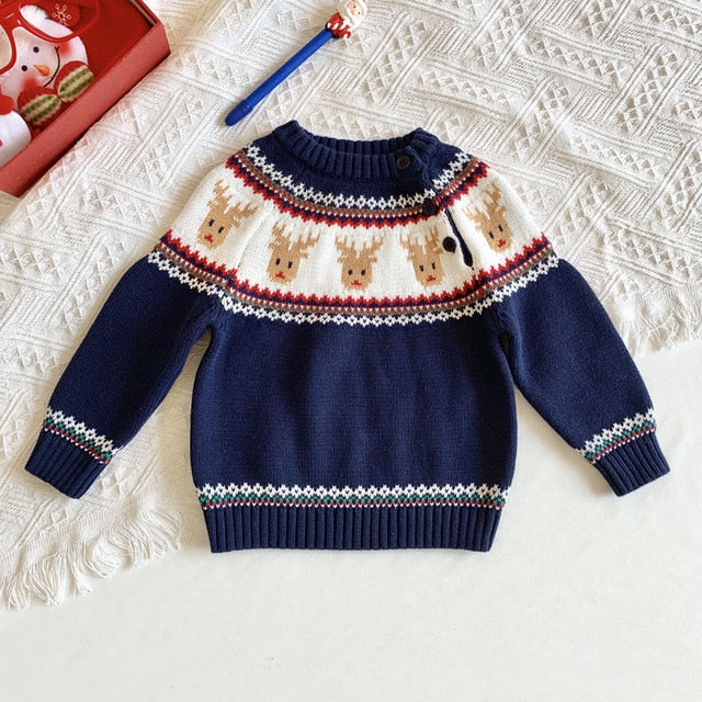 2021 spring Kids Boys Girls Long Sleeve Knit Sweater Winter wholesale - PrettyKid