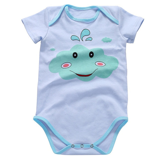 2021 Good Quality Cotton Babys Romper Short Sleeve Baby Cute Clothing Unisex Babys Clothes Girl Boy Jumpsuits wholesale - PrettyKid