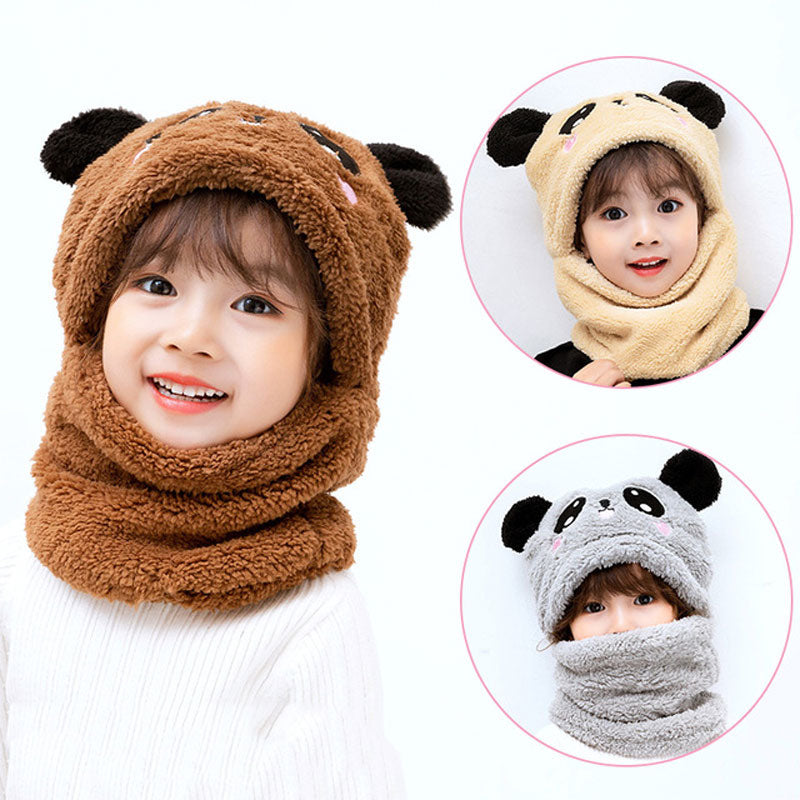 2021 Winter Children Cute Hat Fleece Kids Caps Cartoon Hat For Girls Boys Scarf Thicken Cap Newborn Baby Manufactuer - PrettyKid