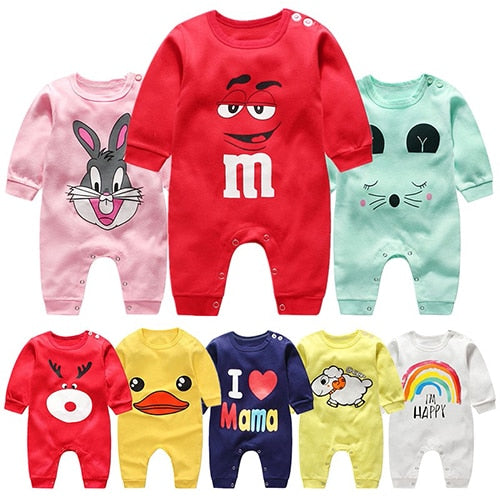 Newborn Autumn Cotton Baby Unisex Clothes Romper Jumpsuit Wear Pajamas Wholesale in bulk