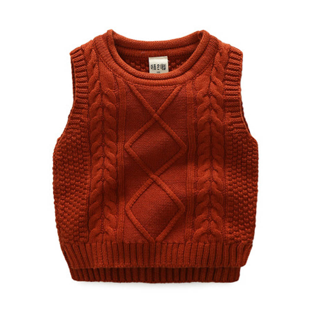 2021 SPRING Baby Sleeveless Knit Sweater Vest Children Winter Clothes Kids Knitted Vest Sweater Wholesale - PrettyKid