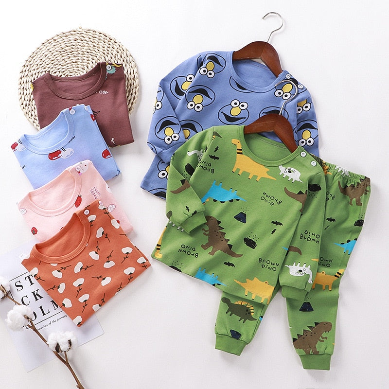 2021 Pajama Kids Unisex Homewear Suits Pajama Sets Children's Boys Pjms Winter Girls Kids Clothes Manufactuer - PrettyKid