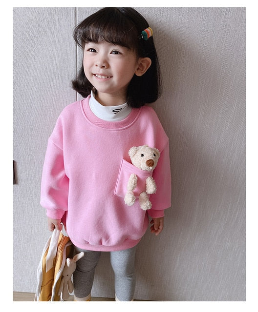 Trendy 2-6 Years Winter Girls Boys Cute Long Sweaters Baby Kids Top Wholesale