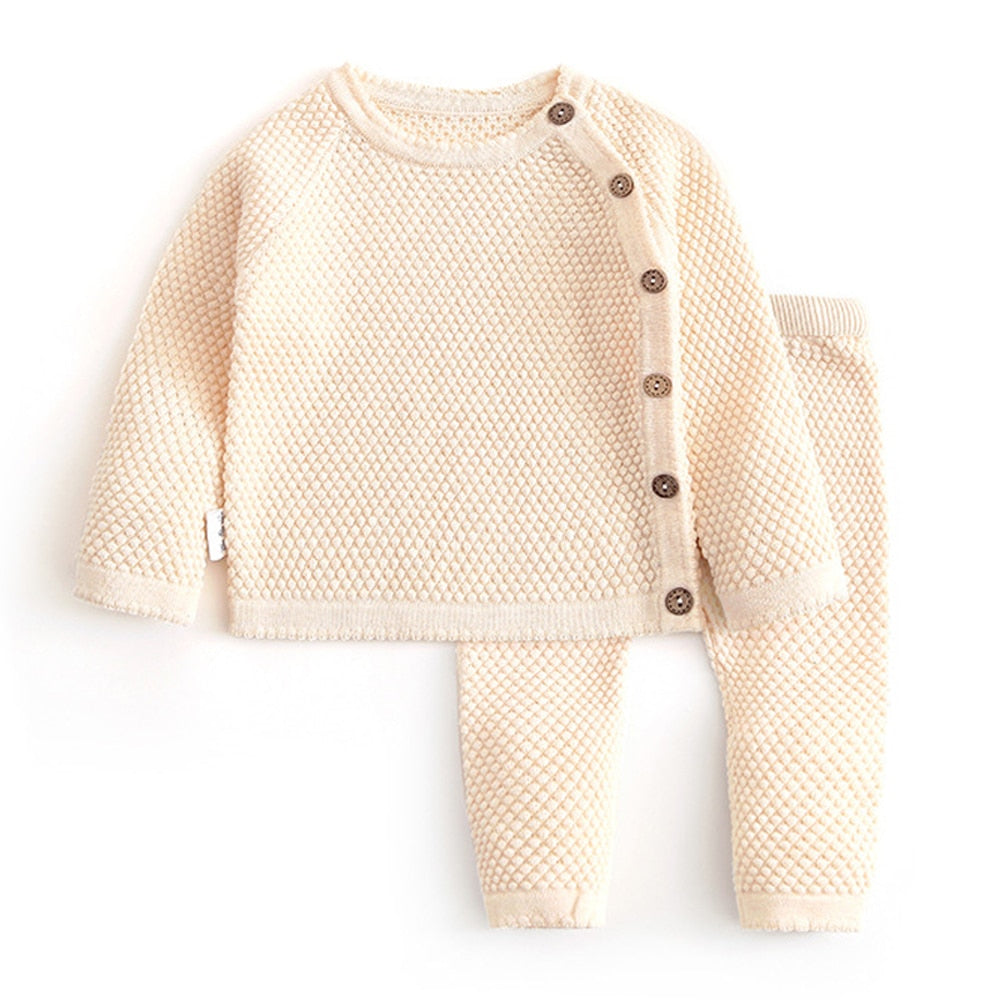 Clothing 2021 Kids Newborn Clothes Knitting Outfits 2pcs Set For Baby Girls 1 2 3 Years Wholesale - PrettyKid