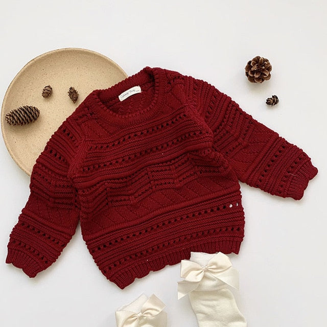2021 wholesale new arrival Kids Girls Long Sleeve  Sweater spring Winter Baby Clothing  1-7Yrs vendor