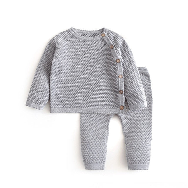 Infant Baby Sweater Suit wholesale 2021 Spring Winter Sets Warm Cotton