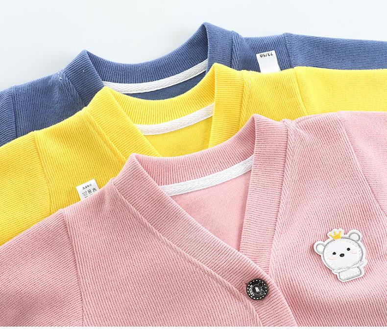 Fashion Baby Knitwear Cardigan Jacket Long Sleeved Cartoon Jacket Boys Knitted Sweater Wholesale
