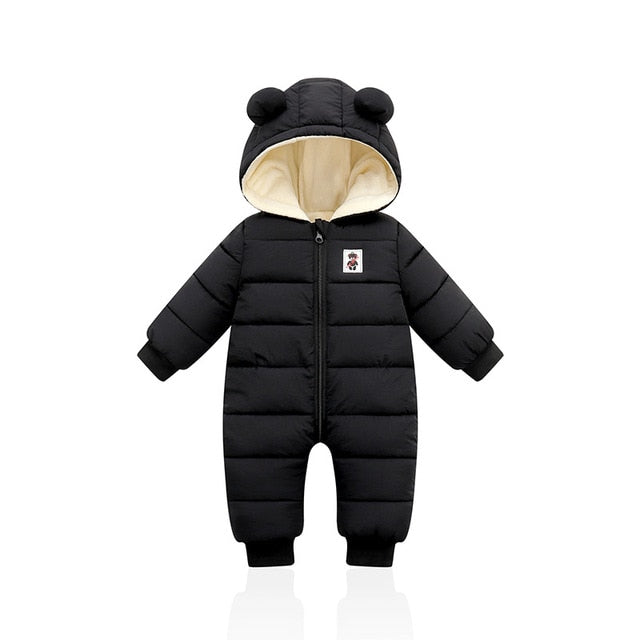 2021 Stylish Winter Infant Baby Clothing New Baby Boys Cotton Jumpsuit Girls Long-sleeved Hoodie Romper Supplier - PrettyKid
